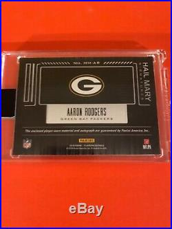 2018 Panini Playbook Aaron Rodgers Hail Mary Sigs JSY AUTO #3/10! PACKERS