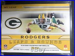 2018 Plates & Patches Aaron Rodgers Auto #2/5 Leaps & Bounds Packers