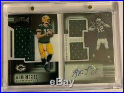 2018 Playbook Packers Aaron Rodgers Booklet Triple Jersey Patch Auto SSP 22/25