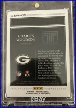 2018 impeccable Charles Woodson /10 Jersey Relic Auto Autograph Packers SSP