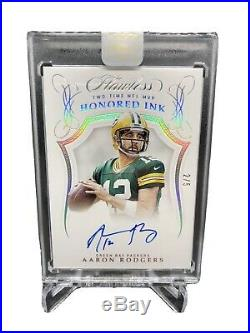 2019 Flawless Aaron Rodgers Honored Ink Platinum Auto Autograph /5 Packers SP