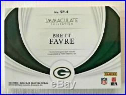 2019 Immaculate Football Brett Favre Sneak Peek Cleats SP-4 #4/4