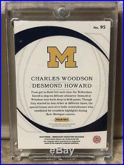 2019 Immaculate Ink Desmond Howard Charles Woodson Dual Auto 24/25 SP MICHIGAN