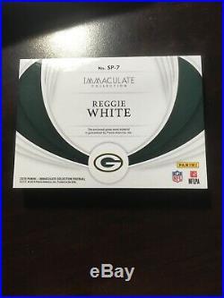2019 Immaculate Nike Swoosh Sneaker Card Reggie White One of One 1/1 Game-used