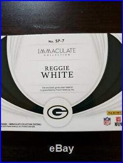 2019 Immaculate Reggie White Sneak Peek Cleat Shoe 2 /5 Packers Game Used #92