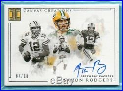 2019 Impeccable CANVAS CREATIONS Aaron Rodgers #/10 SP ON-CARD AUTO PACKERS