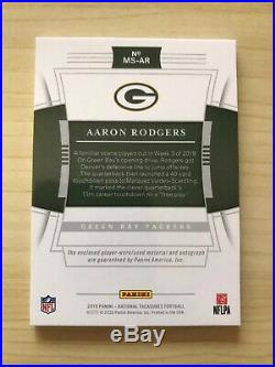 2019 National Treasures Aaron Rodgers Auto Patch 1/10 Signatures Prime Packers