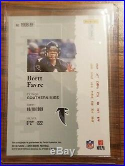2019 Panini Contenders Brett Favre Rookie Ticket Auto 02/20 ssp Falcons