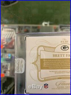 2019 Panini Flawless Brett Favre Auto Patch 8/10 Packers KM