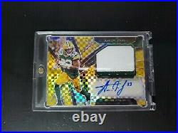 2019 Panini Select Football Aaron Jones Gold Auto Numbered /10 Packers Nfl