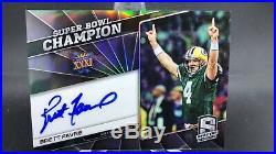 2019 Panini Spectra Super Bowl Champion Brett Favre Auto Refractor /15 Packers