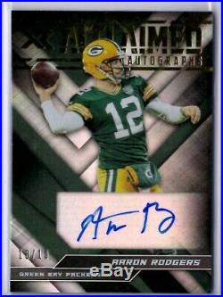 2019 Panini XR AARON RODGERS Acclaimed Auto Autograph Card #10/10 Packers SP