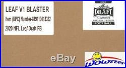 2020 Leaf Draft Football Factory Sealed 20 Box Blaster CASE-40 AUTOS+1,800 RCS