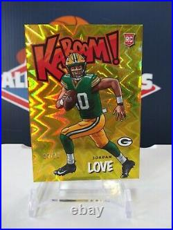 2020 Panini Absolute Jordan Love Kaboom Gold Parallel Rookie Card #4/10 Packers