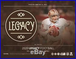 2020 Panini Legacy Football Factory Sealed Hobby Box
