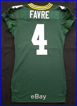 #4 Brett Favre Green Bay Packers NFL Equipment Room Jersey (Size 48)