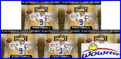 (5) 2020 Leaf Draft Football Factory Sealed 20 Pack Blaster Box-10 AUTOGRAPHS