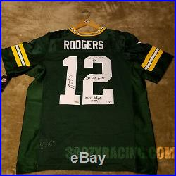 AARON RODGERS NIKE ELITE Jersey Autographed Signed Super Bowl Stats XLV Packers