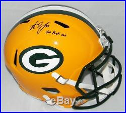 Aaron Jones Autographed Signed Green Bay Packers Full Size Speed Helmet Jsa
