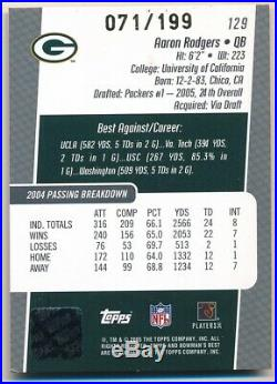 Aaron Rodgers 2005 Bowman's Best Rc Rookie Autograph Packers Auto Sp #071/199