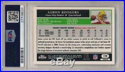 Aaron Rodgers 2005 Topps Chrome #190 Rc Rookie Refractor Packers Sp Psa 9 Mint