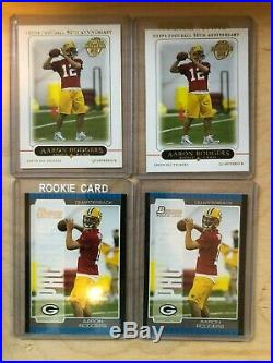 Aaron Rodgers 2005 Topps Chrome Refractor Rookie LOT Bowman First Edition