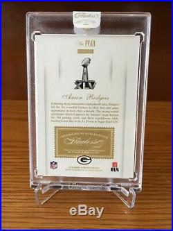 Aaron Rodgers 2016 Panini Flawless Victors /5 Black Ink on Card Auto Packers