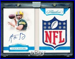 Aaron Rodgers 2018 Flawless NFL Shield Gems 1/1 Auto 8 Diamond 11 Ruby Booklet