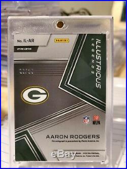 Aaron Rodgers 2018 Spectra Illustrious Legends Silver On Card Auto /25 Packers