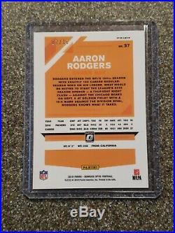 Aaron Rodgers 2019 Optic Gold Refractor 1/10