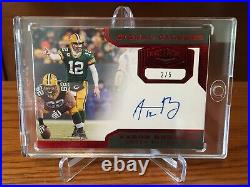 Aaron Rodgers 2019 Panini Plates And Patches Signal Callers Auto /5 SSP Packers