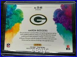 Aaron Rodgers 2019 Panini Prizm Color Blast CB-AR SSP Insert 110 Cases PACKERS