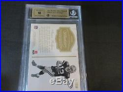 Aaron Rodgers Bgs 9.5 10 2016 Flawless On Card Auto 2-color! Game Worn Jsy! /5
