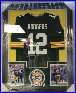 Aaron Rodgers Green Bay Packers NFL Autographed Jersey Framed WithSteiner COA