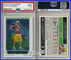 Aaron Rodgers PACKERS 2005 Topps Chrome #190 Rookie Card rC #190 PSA 9 Mint X406