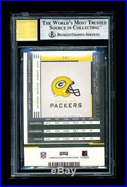 BGS 9 2005 Playoff Contenders Aaron Rodgers Rookie RC SUBS 9,9.5,9,9 Auto 10