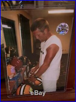BRETT FAVRE MVP Autographed NFL Full Size Helmet In Display Case, COA, Photo