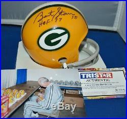 Bart Starr Autographed 2 Bar Mini Helmet Green Bay Packers Hof 77 Sb I & II Jsa