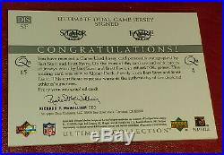 Bart Starr & Brett Favre 2003 Ultimate Collection Dual Auto Jersey /25 Autograph