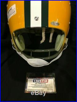 Bart Starr Green Bay PACKERS Autographed Full Size THROWBACK Helmet TRI STAR