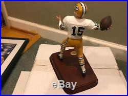Bart Starr Green Bay Packers Danbury Mint Statue No Box Custom No Coa White