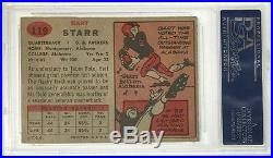 Bart Starr Hof 77 Signed 1957 Topps Rookie Card Rc #119 Psa Graded 10 Autograph