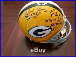 Bart starr Brett Favre Autographed Proline Helmet