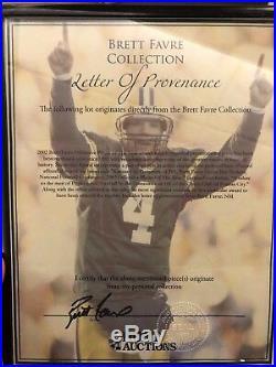 Brett Favre Green Bay Packers 2002 Player Of Year Statue 1/1 Hof NFL Qb Sb Week