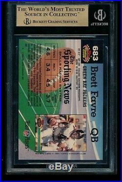 Brett Favre RC 1992 Stadium Club #683 Graded Gem Mint BGS 9.5 Green Bay Packers