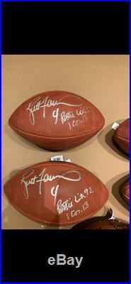 Brett Favre Reggie White Auto Signed Duke Football Packers Super Bowl 31 1996