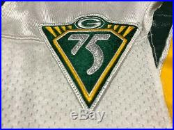 Brian Noble 1993 Game Worn Used Signed Packers Starter NFL Football Jersey Mint