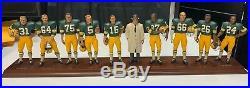 Danbury Mint 1966 Green Bay Packers Team Figurines NFL Vince Lombardi MINT