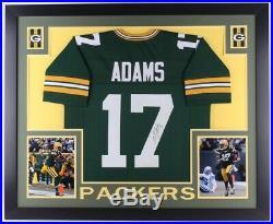 Davante Adams Signed Autograph Packers 35x43 Custom Framed Jersey (JSA COA)