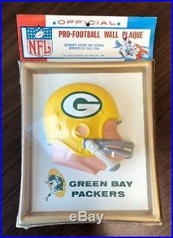 Green Bay Packers 1965 Helmet Plaque Original Antique Vintage NFL Technigraph